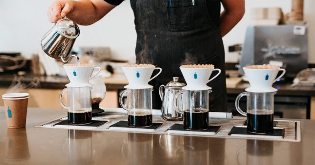 Image of coffee being filtered representative of the stock screener described in this post