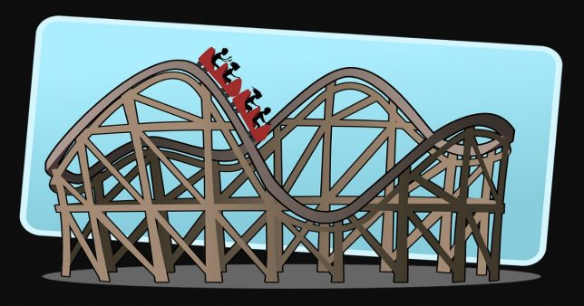 Image of people travelling in a roller coaster representing a SIP investment in Small Cap fund ...