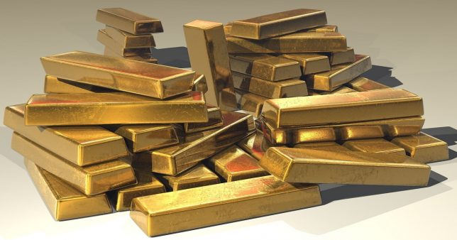 Image of gold bars representing the asset tracked by Sovereign Gold Bonds