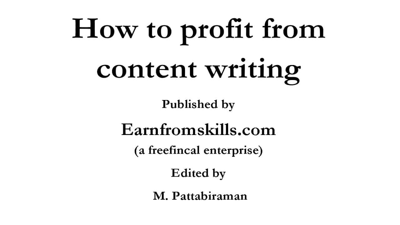 How to profit from content writing front page