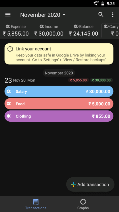 Monito money management app screenshot 1