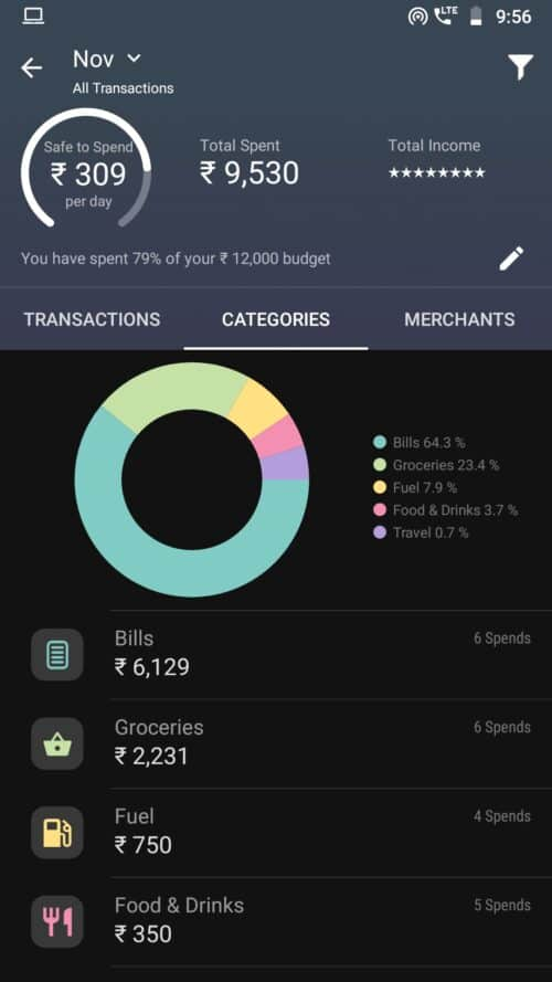 Walnut money management app screenshot 2