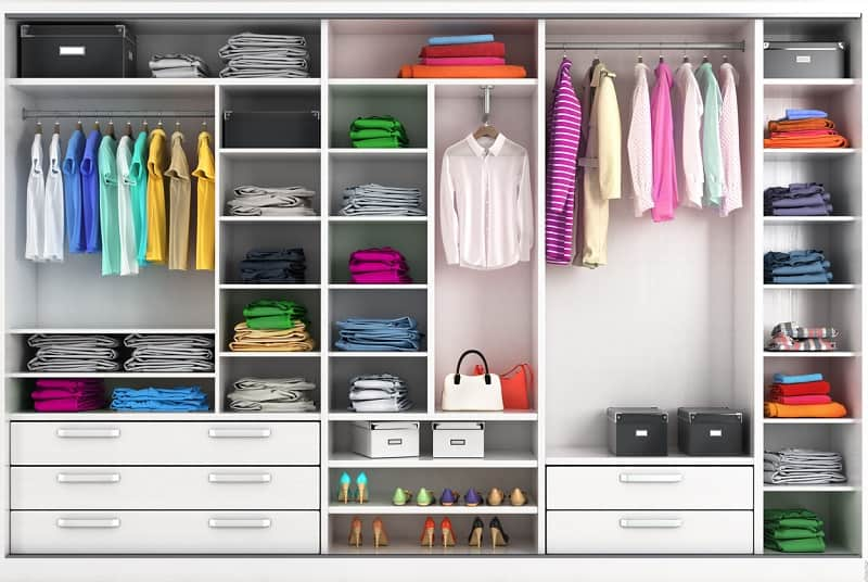 Organized wardrobe to represent the investment portfolio of a organised DIY investor or investor working with a SEBI registered fee-only advisor